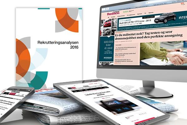 medie og presse om rekrutteringsanalysen 2016