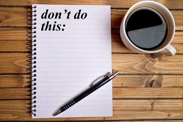 Seks ting du ikke må gøre i din jobsøgning