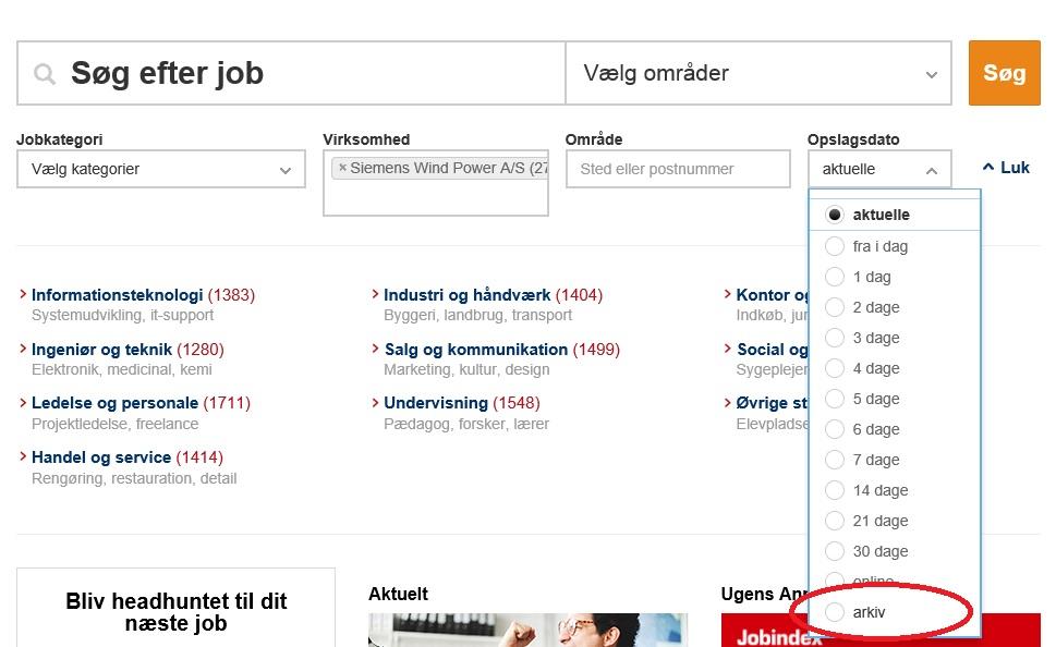 Jobindex arkivfunktion kan bruges i uopfordret jobsøgning