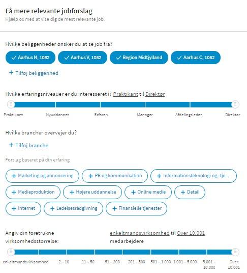 Headhunter LinkedIn relevante jobforslag