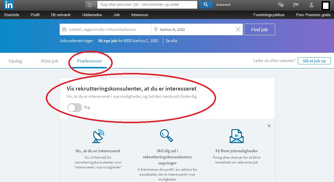 Headhunter LinkedIn rekruttering synlighed