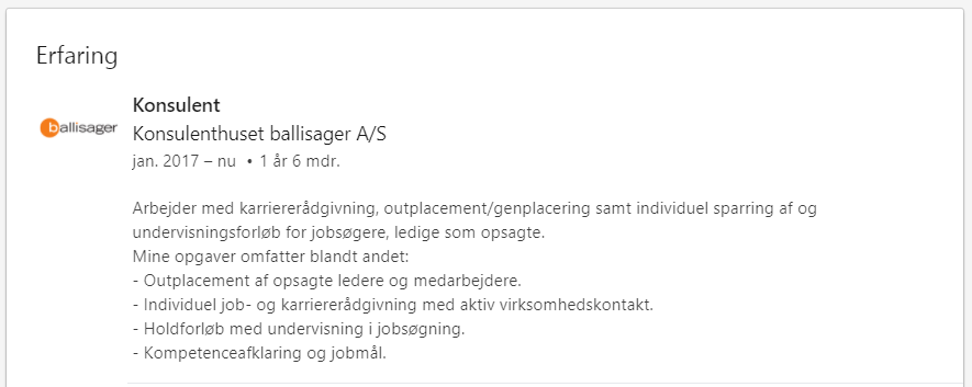 Eksempel på en god dating profil