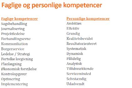 Faglige og personlige kompetencer kompetenceafklaring medarbejdere