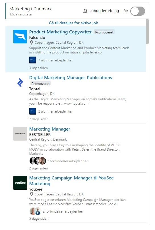 Sponserede jobannoncer på LinkedIn