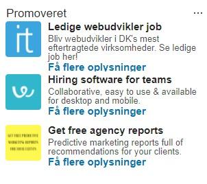 LinkedIn tekstannoncer rekruttering