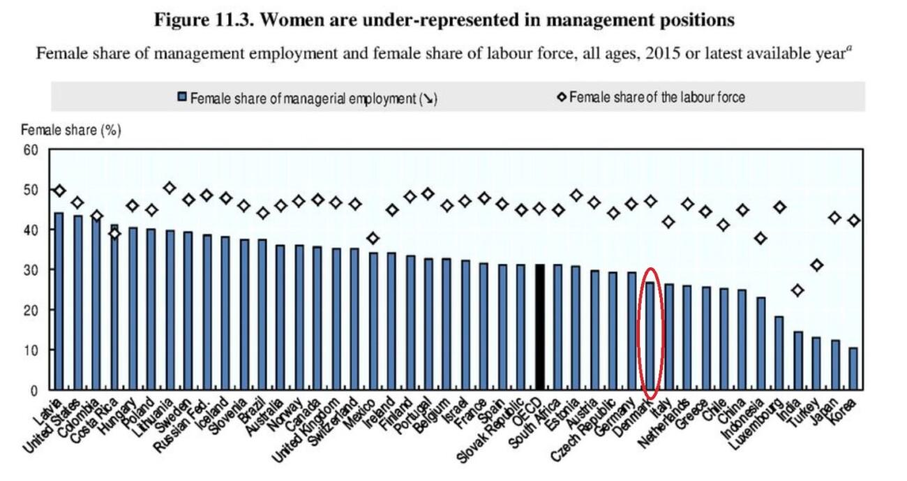 Kvinder i ledelse i Verdens nationer OECD oversigt